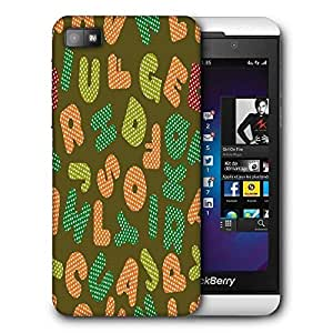 Snoogg Dotted Alphabets Printed Protective Phone Back Case Cover For Blackberry Z10