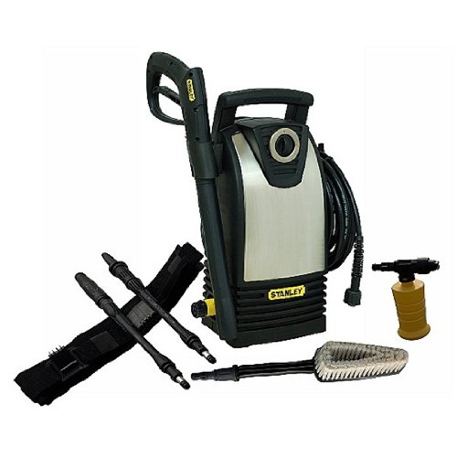 Stanley 1600 Psi 1.4 Gpm Electric Pressure Washer With High Pressure Vaiable Spray Gun And Bonus Turbo Wand