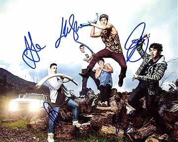 The JANOSKIANS (Beau Brooks, Jai Brooks, Luke Brooks, Daniel Sahyounie, & James Yammouni) 8x10 Cast Photo Signed In-Person