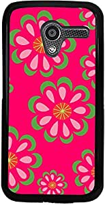 PrintVisa Case Cover for Motorola Moto X (D7962 Pattern Abstract Floral)