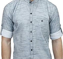 UNIXX Men's Casual Shirt (UXXS-06_Grey_40)