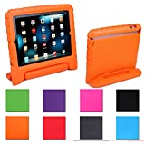 HDE Kids Light Weight Shock Proof Handle Case for iPad 2/3/4 (Orange)