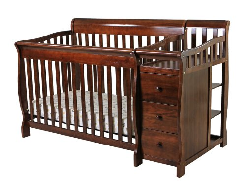 Dream On Me 5 In 1 Brody Convertible Crib With Changer, Espresso front-653702