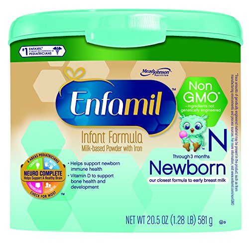 Enfamil Newborn Non-GMO Baby Formula, 20.5 Oz. Tub (Pack of 4) (Baby Food Level 3 compare prices)