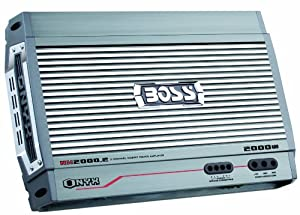 Boss NX2000.2 Onyx 2000 Watt 2-Channel Mosfet Bridgeable Amplifier with Remote