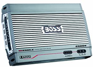Boss NX2000.2 Onyx 2000 Watt 2-Channel Mosfet Bridgeable Amplifier with Remote