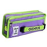 Hflove Cute Girls Oxford Pen Bag Pencil Bags Stationery Bags Simple Pencil Case Bag (Purple)
