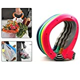 Arlai Mighty Handle,Home One Trip Grips Shopping Grocery Bag Holder Handle Carrier Lock Kitchen Tool - Pack of 4