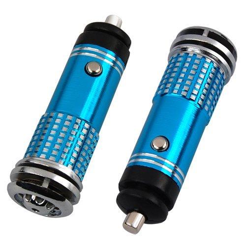 Water & Wood Mini Auto Car Fresh Air Purifier/Ionizer Oxygen Bar, 12V, Blue front-590279