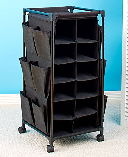 Fashionable Rolling Shoe Storage (Black) (Shoe Cart compare prices)