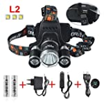 GRDE� Lampe Frontale Torche LED Zooma...