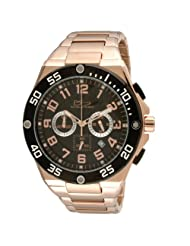 Daniel Steiger Men's 8007-M Lapmaster Rose Gold and IP Black Chronograph Watch