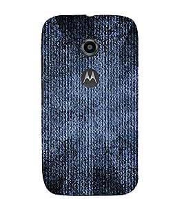 99Sublimation Blue Denim Jeans Pattern 3D Hard Polycarbonate Back Case Cover for Motorola Moto E2 :: E Dual SIM 2nd gen :: 3G XT1506 :: 4G XT1521