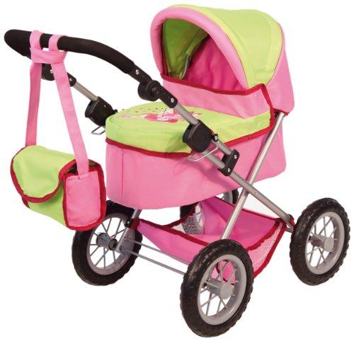 Bayer Design 13045 - Puppenwagen Trendy, pink/grün