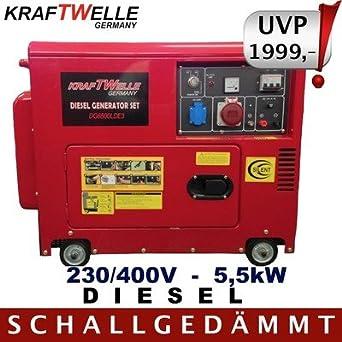 diesel generatore stromerzeuger 5 5kw stromaggregat 230 400v 5 5kw diesel generator silent neu. Black Bedroom Furniture Sets. Home Design Ideas