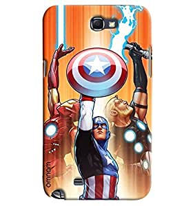 Omnam Avenger Showing Its Full Power Printed Designer Back Case Samsung Galaxy Note 2