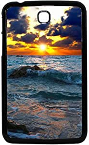 FCS Printed 2D Designer Hard Back Case For Samsung Galaxy Tab 3 With Universal Mobile Stand