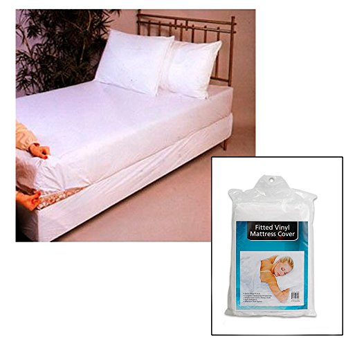 Twin Size Bed Mattress Cover Plastic White Waterproof Bug Protector Mites Dust ! front-814463
