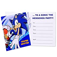 Sonic the Hedgehog Invitations (8 count) Party Accessory by BirthdayExpress
