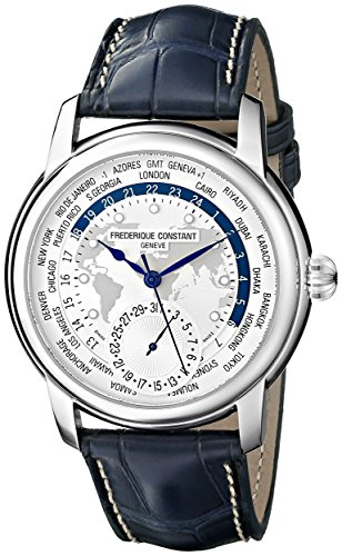 frederique-constant-mens-world-timer-silver-dial-blue-leather-strap-swiss-automatic-watch-fc-718wm4h