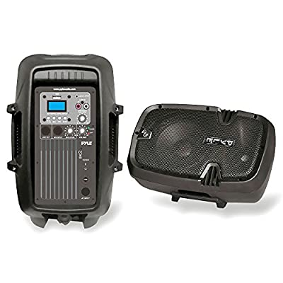PYLE-PRO PPHP803MU 8-Inch 600 Watt Powered Two-Way PA Speaker with MP3/USB/3.5mm Input