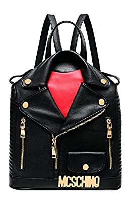 Independence Day Promotion ILISHOP Women's Fashion Motorcycle Jacket Backpack Handbag