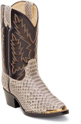 Kids' Durango® Reptile Print Boots, Natural, 3
