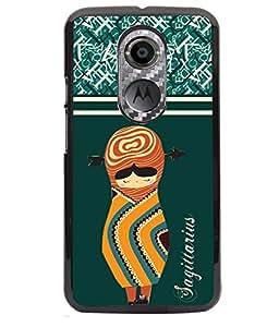 Fuson 2D Printed Sunsign Sagittarius Designer back case cover for Motorola Moto X2 - D4409