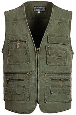 Mrignt Men's Oversize Pockets Travels Sports Outdoor Vest