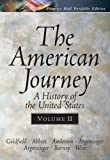 The American Journey Portfolio Edition, Vol. II (0131920995) by Goldfield, David