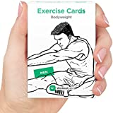 EXERCISE CARDS by WorkoutLabs: Premium Visual Bodyweight Workout Cards - #1 Bestselling Waterproof Fitness Flash Cards for at Home Workouts without Equipment (Women & Men)