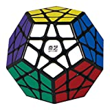 Ocamo 3x3 Megaminx Magic Cube Professional Stickerless Dodecahedron Speed Cubes Brain Teaser Twist Puzzle Toy Black (Color: Black)