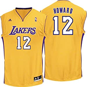 NBA Los Angeles Lakers Replica Jersey, #12 Dwight Howard, Gold