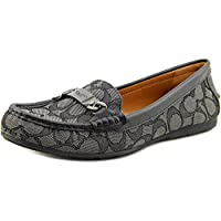 Coach Womens Olive Sand Printed Snake Loafers