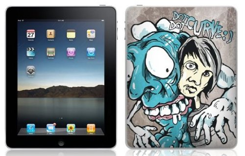 """MusicSkins - Skin protettiva con grafica """"Till the wheels fall off"""" per iPad, motivo: Dot Dot Curve"""