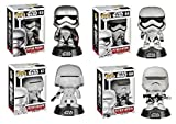 Funko POP! Star Wars: Force Awakens - Captain Phasma + Stormtrooper + Snowtrooper + Flametrooper - Vinyl Figure Set NEW