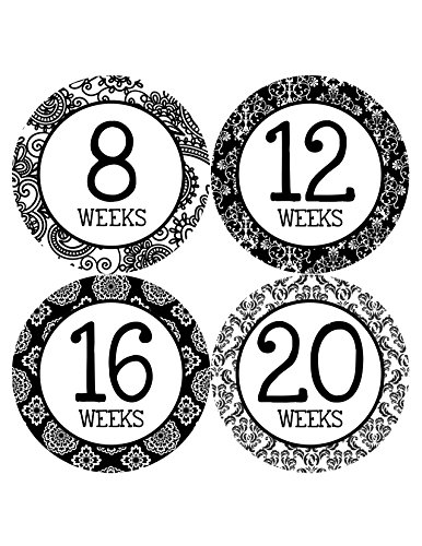 Months In Motion 912 Pregnancy Baby Bump Belly Stickers Maternity Week Sticker