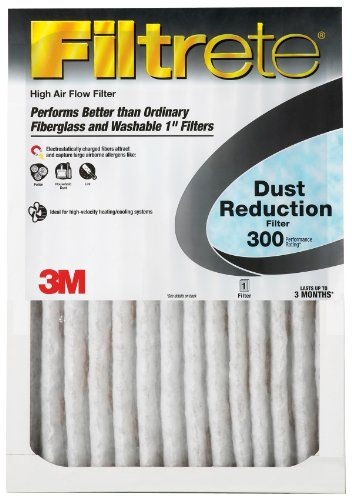 "3M 320DC-6 Filtrate Dust Reduction Filter, 12"" x 24"" x 1"" - 1"