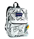 JanSport Super G School Backpack (White/Black Sneaks)