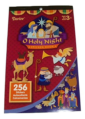 Darice Sticker Book ~ Christmas Edition (O Holy Night; 256 Stickers)