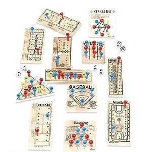 Wooden Peg Game Assortment - Child Party Games (1 dz)