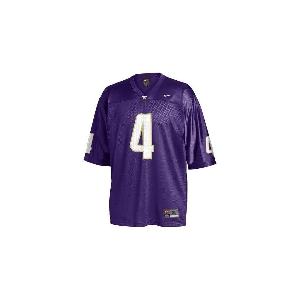 Nike Washington Huskies  4 Purple Youth Replica Football Jersey on ... 9beab47c2