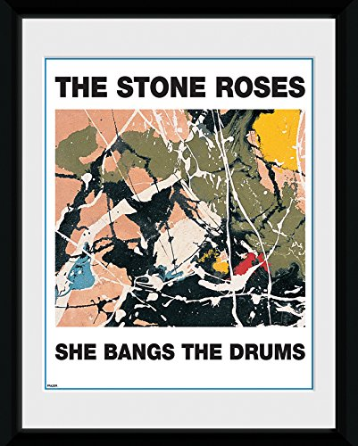 gb-eye-8-x-6-inch-the-stone-roses-she-bangs-the-drums-framed-photograph-assorted