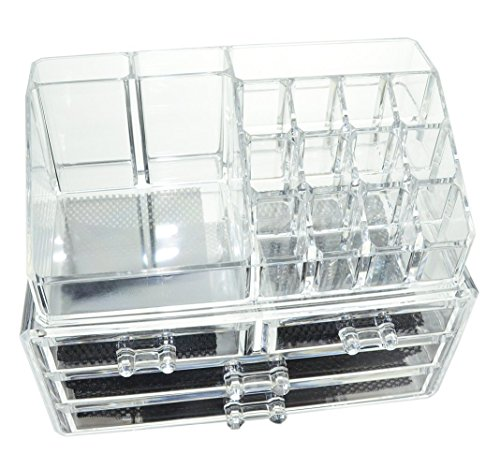 express-trading-double-layer-beauty-clear-acrylic-cosmetic-drawer-make-up-nail-polish-varnish-displa