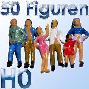 50 Stück Figuren für Ihre Modellbahn Spur H0 (Import)