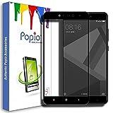 #9: POPIO™ Pro HD+ Full Screen Coverage Tempered Glass Screen Guard Protector for Redmi 4 (Black)
