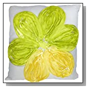 Decorative 3D Lime Green Floral Throw Pillow Cover 18