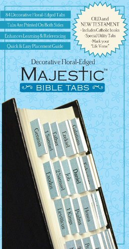 Download Majestic Floral-Edged Bible Tabs