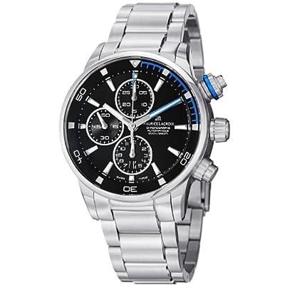 Maurice Lacroix Men's PT6008-SS002331 Pontos Black Chronograph Dial Watch