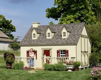 Cape Cod 8' x 10' Wood Playhouse Kit Without Floor